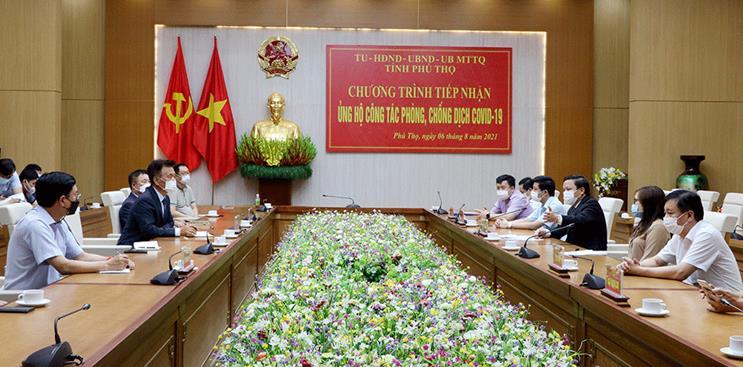 Phó Chủ tịch UBND tỉnh Phan Trọng Tấn trân trọng cảm ơn tình cảm, sự quan tâm, đồng hành của các doanh nghiệp Hàn Quốc tại tỉnh Phú Thọ